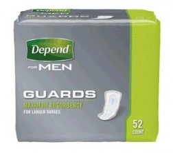 Depend Guards for Men 13792 Bladder Control Pad Pack of 52