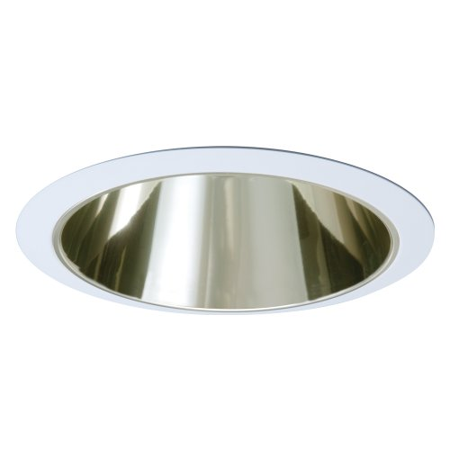 EATON Lighting 426CG 6-Inch Trim Reflector Cone, White Trim with Champagne Gold Reflector Cone ()