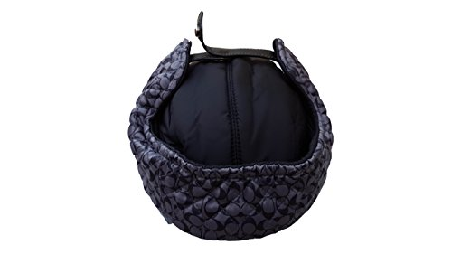 Coach Women's Quilted Trapper Signature Hat, Black