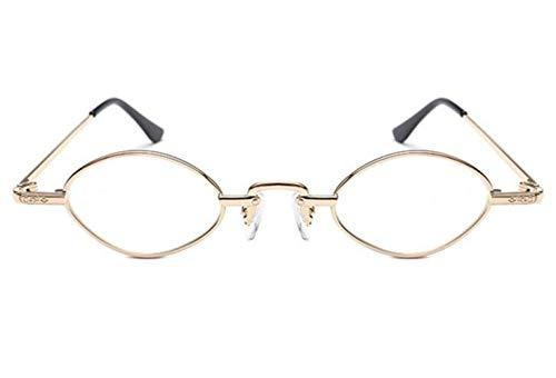 Decoration Small Glasses FlowerKui Ellipse Eyewear Sunglasses Frame Unisex Golden Fashion Y1U71vqS