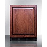 Summit CT663BBIIFADA Series 24 Inch Freestanding Counter Depth Compact Refrigerator in Panel Ready