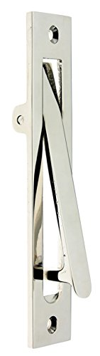 "idh by St. Simons 14010-014 Professional Grade Quality Solid Brass 6-1/4"" Edge Pull, Bright Nickel"