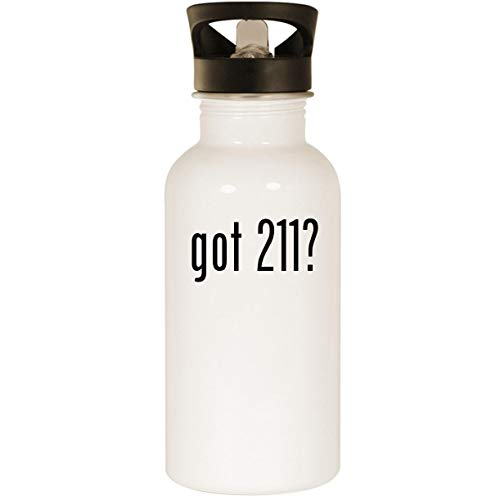 got 211? - Stainless Steel 20oz Road Ready Water Bottle, White