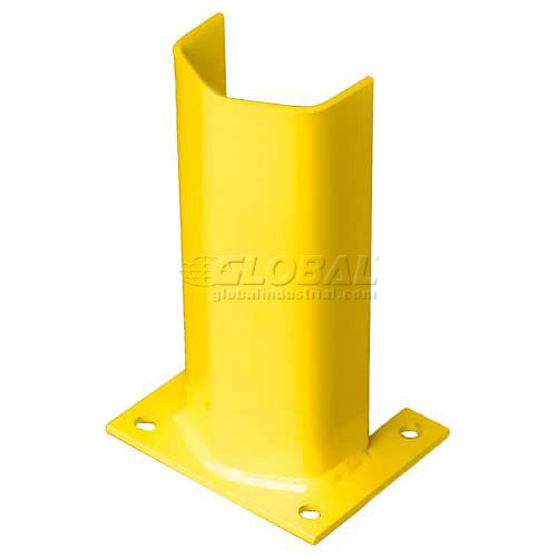 1/4'' Thick 12'' H Steel Post Protector Yellow by Bluff Manufacturing (Image #1)