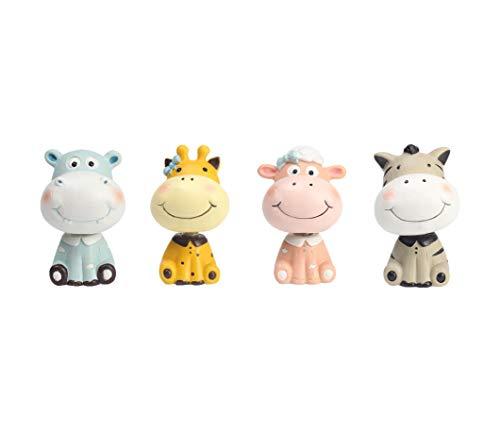 Youfui Car Interior Display Decoration Car Dashboard Ornament Car Home Decor (Giraffe+Sheep+Zebra+Hippo)