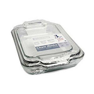3 Pc. Value Pack (2 qt./1.89 L Bake Dish, 3 qt./2.8 L Bake Dish, 5 qt./4.7 L Bake Dish)