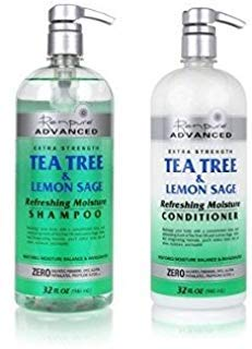 Renpure Advanced Extra Strength Tea Tree & Lemon Sage Refreshing Moisture Shampoo and Conditioner - 32 fl oz