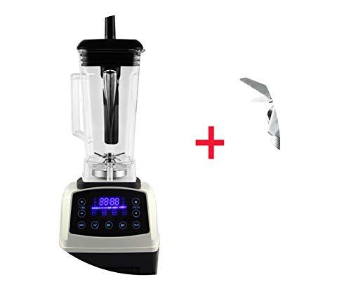 Automatic Digital Smart Timer Program 2200W Heavy Duty Power Blender Mixer Juicer Food Processor Ice Smoothie Bar Fruit,White Blades Tool,Uk Plug
