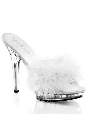 Attirant High Heel Bridal Marabou Bedroom Slipper   6