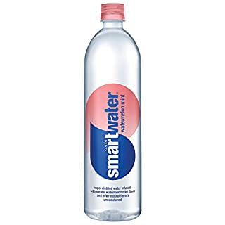 smartwater Watermelon Mint Water, Unsweetened, Infused With Natural Fruit Flavors, 23.7 Fl Oz