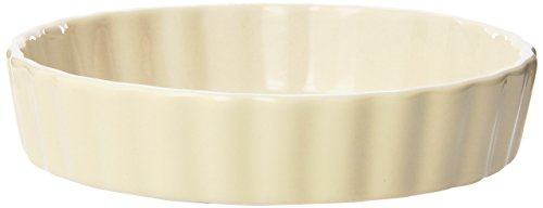 Mrs. Anderson's Baking Round Quiche Creme Brulee, Ceramic Earthenware, Wheat, Set of 6, 5-Inches x 1-Inch (Ceramic Ramekin Fluted)