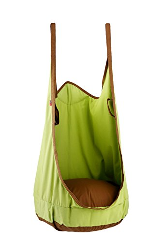 Green Frog Outdoor Furniture (HappyPie Frog Folding Hanging Pod Swing Seat Indoor and Outdoor Hammock for Children to Adult (Green))