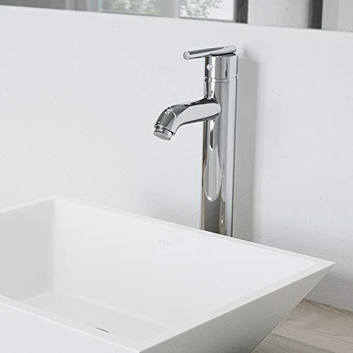 VIGO VG03009CH Seville Solid Brass Single Handle Vessel Basin Faucet, High Arc Single Hole Install, Premium 7-Layer Plated Chrome Finish ()