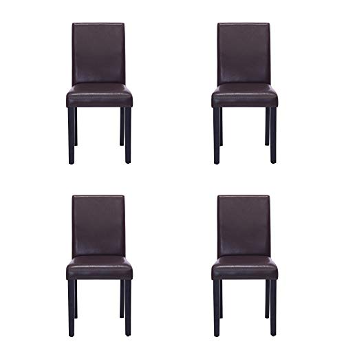 Comfortable Live New Modern Style Dining Chair in Home and Garden with Leather Set of 4 ()