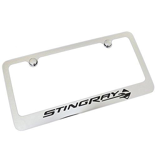 Chevrolet Corvette Stingray C7 Chrome Metal License Plate - Frame Stingray