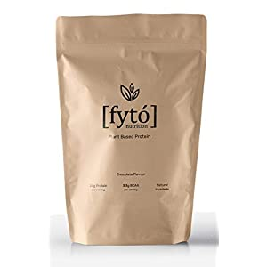 Fyto Nutrition Vegan Chocolate Protein Powder – Plant Based Protein Powder Supplement with Pea, Brown Rice and Hemp Protein – Dairy, GMO & Soy Free (Chocolate)