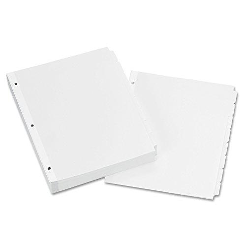 - Avery 11507 Write & Erase Plain-Tab Paper Dividers, 8-Tab, Letter, White (Box of 24 Sets)
