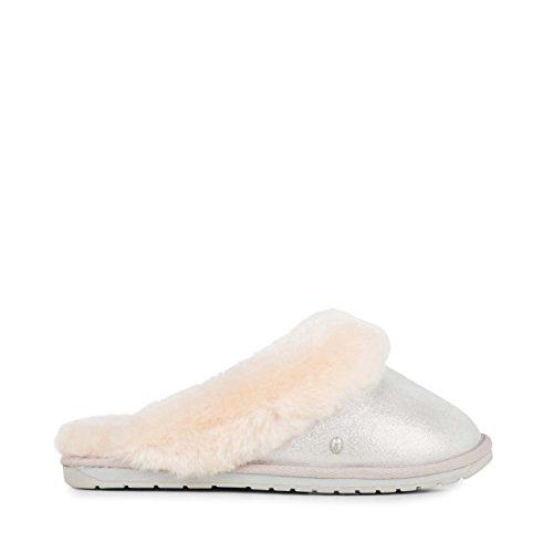 EMU Australia Jolie Metallic Womens Slippers Sheepskin Slipper Size 10