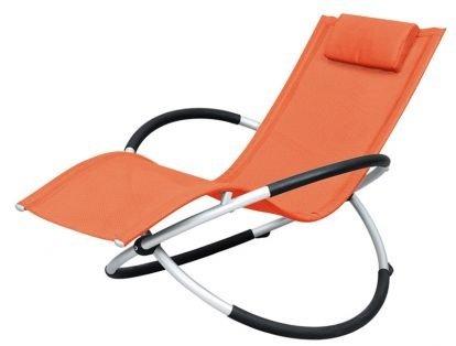 アウトドア!椅子 折りたたみ幅約25cm!憧れのロッキング チェアー バーベキュー ベランダ海 プール に! オレンジ B00IC60Z22