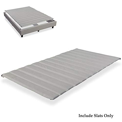 Continental Sleep 1.5-Inch Wood 1.5-inch Standard Mattress Support Wooden Bunkie Board / Slats with Cover Queen Size ()