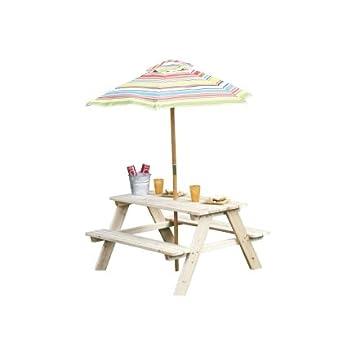 Living Accents Picnic Table Beach 35u0026quot; L X 34.6u0026quot; ...