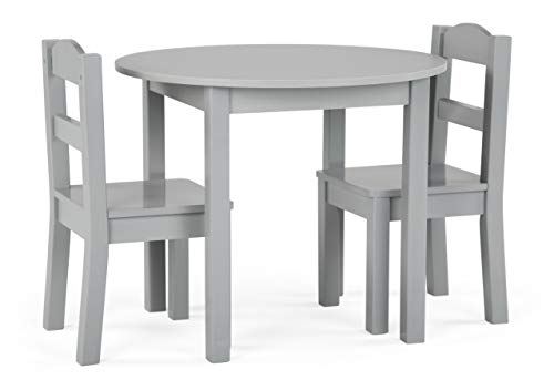 Tot Tutors Table and Chair, 3-Piece, Grey