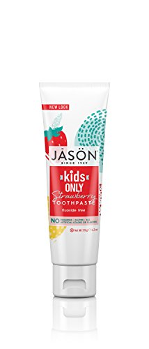 JASON Kids Only Fluoride-Free Strawberry Toothpaste, 4.2 oz. (Packaging May (Flavored Strawberry Toothpaste)