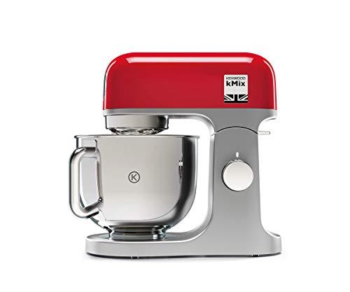 Kenwood kMix KMX750RD – Robot de Cocina Multifunción, 1000 W, Bol Metálico de 5 L con Asa, Gancho para Amasar, Varillas…