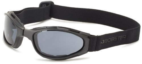 Bobster Crossfire Small Folding Goggles, Black Frame/Smoked Anti-Fog Lens ()