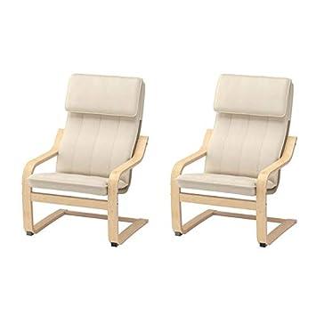 grande vente 88889 80a0d IKEA-schwingsessel 'poäng'- fauteuil cantilever enfant en bois de bouleau  avec housse lavable