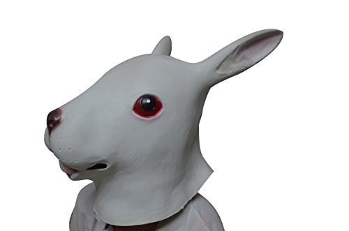 Salable Rabbit Head Latex Mask For Mask Festival、Halloween、Cosplay、Dance Party (Latex Rabbit Mask)