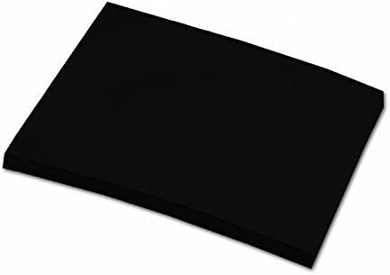 folia 6490 - Tonpapier schwarz, DIN A4, 130 g/qm, 100 Blatt - zum Basteln und kreativen Gestalten von Karten, Fensterbildern und für Scrapbooking