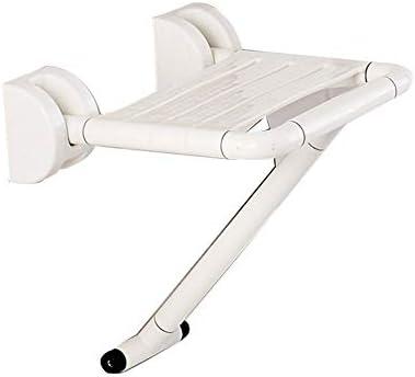 ステップスツールバススツール保存ウォールマウントスペース、プラスチックしっかりと安定したアイルチェアバスルームのシャワースツール、折りたたみスツールバスルーム以外のスリップスツール (Color : 白)
