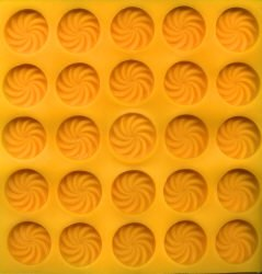 Yellow Rubber Mint Mold - Swirl Mint Flexible Mold