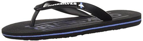 Quiksilver Boys' Molokai Art Youth Sandal, Black/Grey/Blue, 3(34) M US Little Kid (Footwear Black Youth)