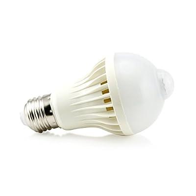 Oct17 Motion Sensor 5 Watt LED Smart Light Bulb Auto PIR Motion Detection Home White Lighting 5W Lamp