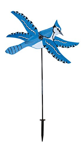In the Breeze 2552 Whirlygig Wind Spinner, Blue Jay ()