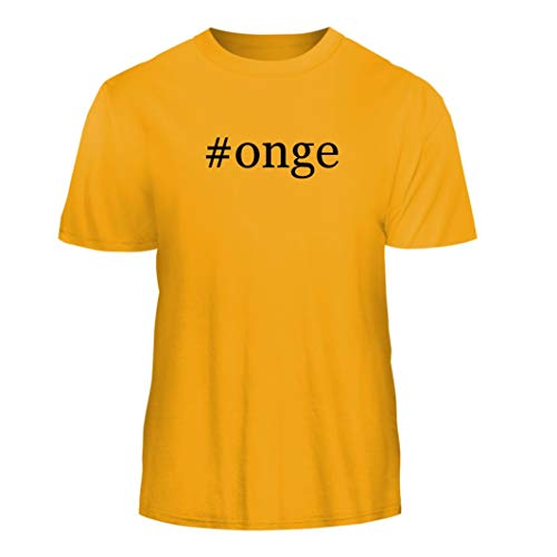 Tracy Gifts #Onge - Hashtag Nice Men's Short Sleeve T-Shirt, Gold, Large