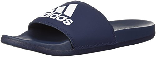 adidas Men's Adilette CF+ Logo Slide Sandal, Collegiate Navy/Collegiate Navy/White, 18 M US by adidas