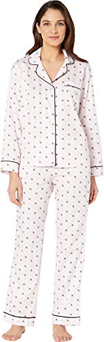 (BedHead Women's Long Sleeve Classic Notch Collar Pajama Set Busy Bees)