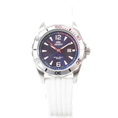 Orient Deep Diver - Reloj deportivo para mujer (mecanismo de cuarzo, indicación de fecha, correa de caucho), color azul: Amazon.es: Relojes