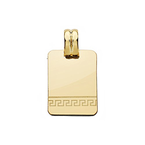 18k Pendentif en or laser plaque ajourée 20mm. [AA0538]