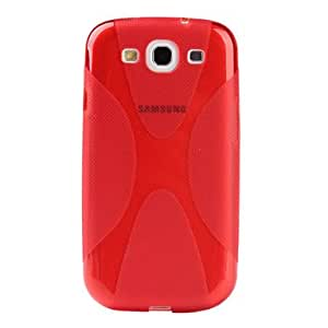 X Shape Soft Case for Samsung Galaxy S3 I9300 (Assorted Colors) --- COLOR:Red