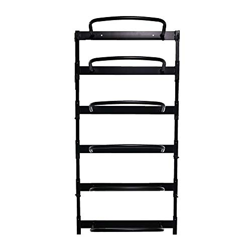 (Power Systems Economy Wall Rack for Foam Rollers, 9.5 x 23 x 49 Inches, Black (80241))