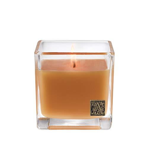 Aromatique Glass Cube Candle, Valencia Orange, 12 Ounces