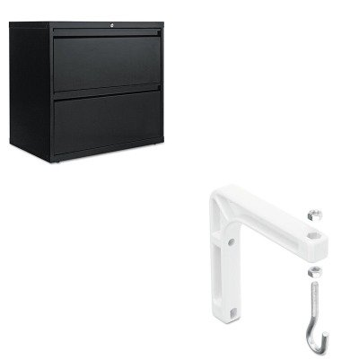KITALELF3029BLQRTAW6Q - Value Kit - Quartet Wall or Ceiling Mount for Projection Screen (QRTAW6Q) and Best Two-Drawer Lateral File Cabinet (ALELF3029BL)