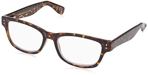 FGX International Unisex-Adult Conan 1015506-300.COM Rectangular Reading Glasses, Tortoise, 3