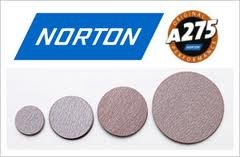 100 Pack Norton A275 Champagne 31476 6 Inch PSA Sticky No Hole Roll 220 Grit Sanding Discs