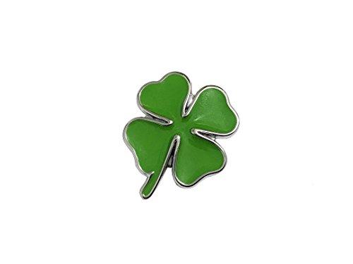 Pimall Small 3D Four Leaf Clover/Lucky Clover Metal Sticker Vehicle Badge Emblem