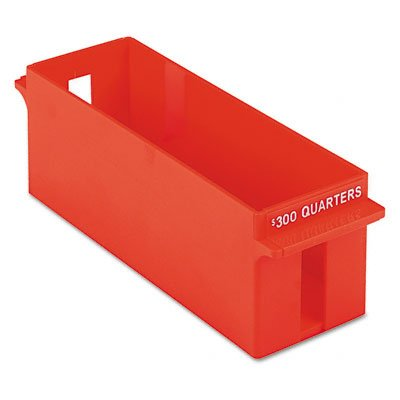 (Large Capacity Plastic Interlocking Coin Tray, Holds $300 in Quarters, Orange (PMF05036))